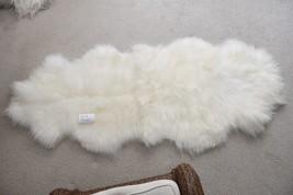 "LARGE ICELANDIC SHEEPSKIN RUG DOUBLE AMAZING SOFT RUNNER OR THROW  79""X3... - $174.12"