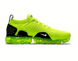 Nike Air VaporMax Flyknit Running Shoes For Men Volt / Black - $185.12+