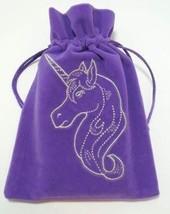 Lazyone Unicorn Embroidered Luxury Tarot Bag Velvet - Purple - 180 x 130... - $12.99