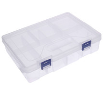 Box Storage Plastic Transparent Case Clear Containers Display Multipurpo... - $10.39