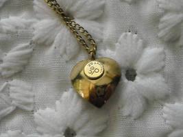 Pearl Pin Loran Sim 1/20th 12K GF Leaf & Pearl Heart Necklace dce 1/20th 14K GF  image 5