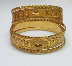 Traditional Gold Plated Wedding Bangles Set South Indian Bridal Jewelry 2.6 - $8.71