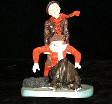 """""""Skaters"""" by Norman Rockwell Figurine AA19-1661 Vintage image 4"""