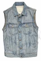 H&M Maison Martin Margiela Reversed Denim Jacket Vest Size Small - $137.99