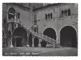 Italy Verona Scala Della Ragione Palace Stairs Giani Ferrari Glossy Post... - $4.99