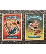 1986 Topps Garbage Pail Kids Original Series Lot: Creamed Keith & Karate... - $3.92
