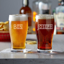 Personalized Engraved Pub Glass, 20 oz. for Beer, Cocktails, Juice - $22.99