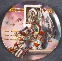 Mile In His Moccasins Collector Plate Lisa Danielle Lore of The West - $14.97