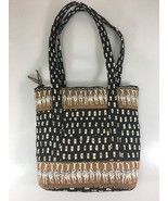 Vera Bradley Zebras Petite Villager Cotton Shoulder Bag Handbag Purse Re... - $57.33