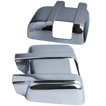 Chrome Mirror Cover W/ Signal Cut for Ford F250+F350+F450 550 Super Duty... - $54.94