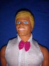 1968 Blond Ken White Jumpsuit Pink Bowtie - $250.00