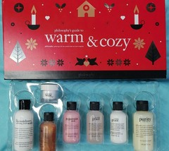 Philosophy 7pc WARM & COZY GIFT SET Purity Microdelivery Renewed Hope Shower Gel - $37.60