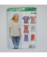 New Look 6705 Easy Sewing Pattern Misses Shirt Top Size 8-18 - $9.89