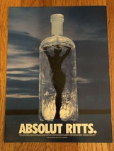 Absolut Ritts Ice Cube Original Magazine Ad - $4.49