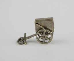 Vintage Sterling Silver Charm Cart Moveable - $9.95
