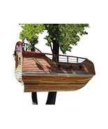 Kids Wooden Tree House Plans DIY Ship Themed Play Fort Kids Playhouse Pl... - $12.95