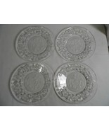 "set 4 PRINCESS HOUSE Crystal Christmas Fantasia POINSETTA glass 6"" SIDE ... - $19.99"