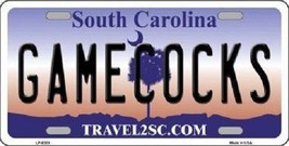 "NCAA South Carolina License Plate State Background Metal Tag  ""U.S.A."" Gamecocks - $10.64"