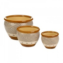 Earth-tone Trim Planter Trio - $63.46