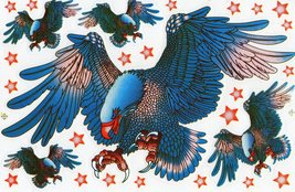 D515 Eagle Wing Bird Sticker Decal Racing Tuning Size 27x18 cm / 10x7 inch - $3.49