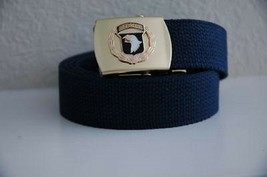 US Army 101st Air Borne Division Blue Belt & Buckle - $17.81