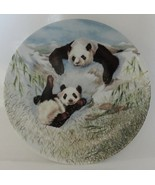 Panda Collector Plate Secret World of the Panda A Frolic in the Snow - $19.99