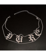 LEIIY Elegant Design Silver Plated Letter Double Chain Short Choker Neck... - $7.03