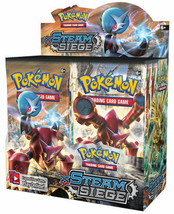 Pokemon Cards XY Steam Siege 5 Booster Pack Lot Pokemon TCG Card Game - $19.99