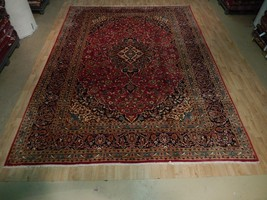 Authentic Tradtional Hand Knotted Rug Collection Kashan 10' x 13' Persia... - $1,010.64