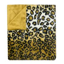"Leopard Print Plush Faux Fur Decorative Throw Blanket 50""x 60"" - $32.02 CAD"