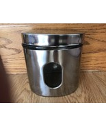 Stainless Steel and Glass Canister with Window Seal Oval Heavy Kitchen B... - $24.23