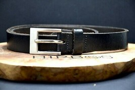 Blue Inc Jeans Vintage Womens Leather Belt Black Size Small - $23.95