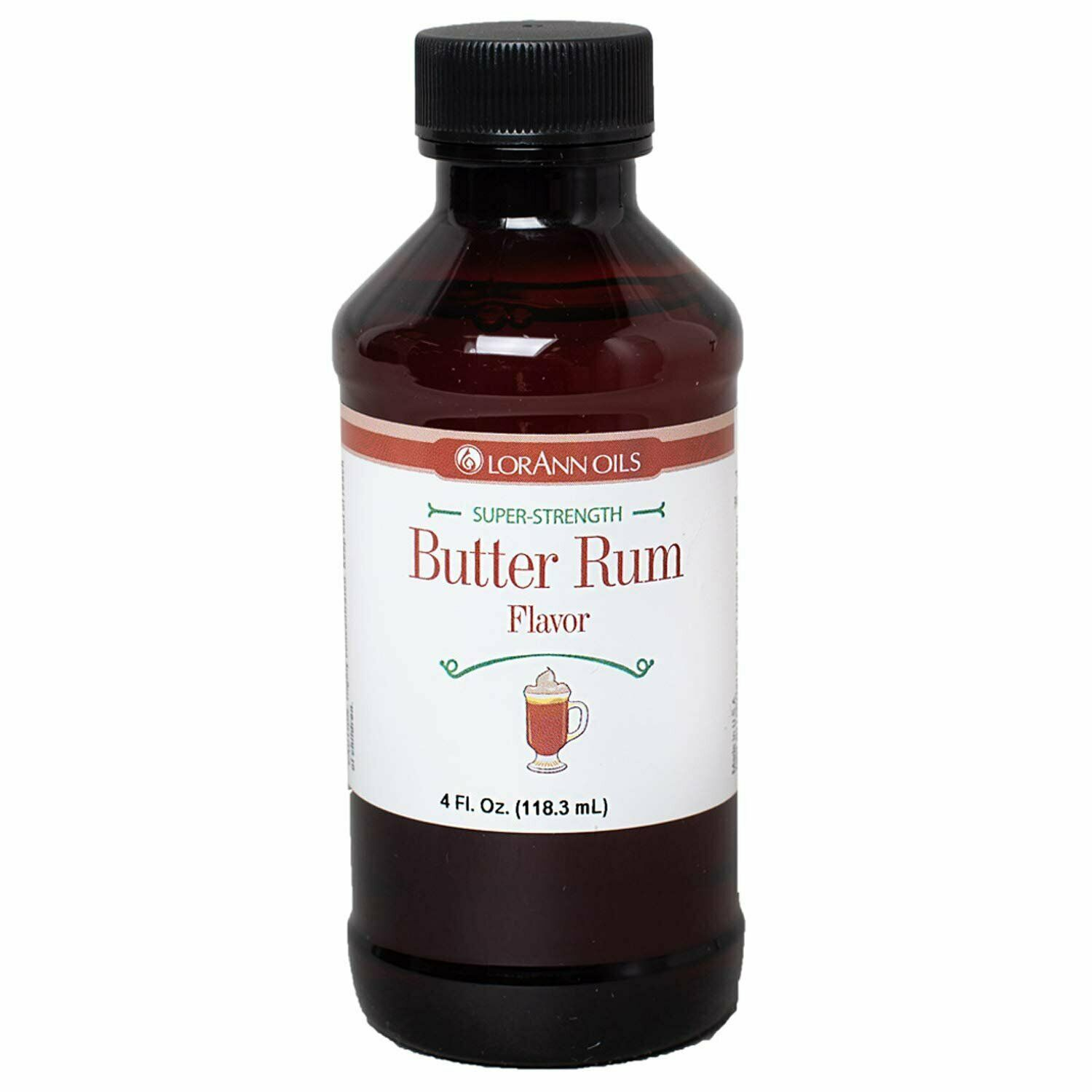 Primary image for LorAnn Super Strength Butter Rum Flavor, 4 ounce bottle