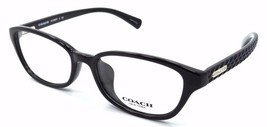 New Coach Rx Eyeglasses Frames HC 6067F 5002 52x16 Black with Case Asian Fit - $60.27