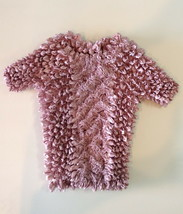 FC Adult Dusty Pink Popcorn Lace Short Sleeve Stretchy Top with Defects - $7.99