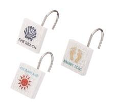 Avanti Linens 13676GMUL Beach Words Shower Hooks, Medium, Multicolor - $26.19 CAD