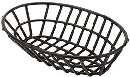 G.E.T. Enterprises Black Oval Metal Wire Basket Iron Polyethylene Coated... - $16.73