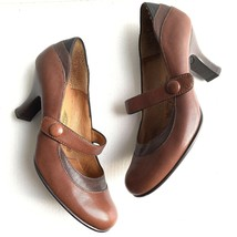 SOFFT Women's Three Toned Brown Leather Mary Jane Heels Shoes 6M - $24.74