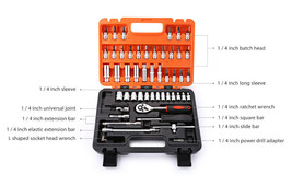 53 Piece Automotive Tool Set Mechanics Box Case Car Motorcycle Home Repa... - $37.99