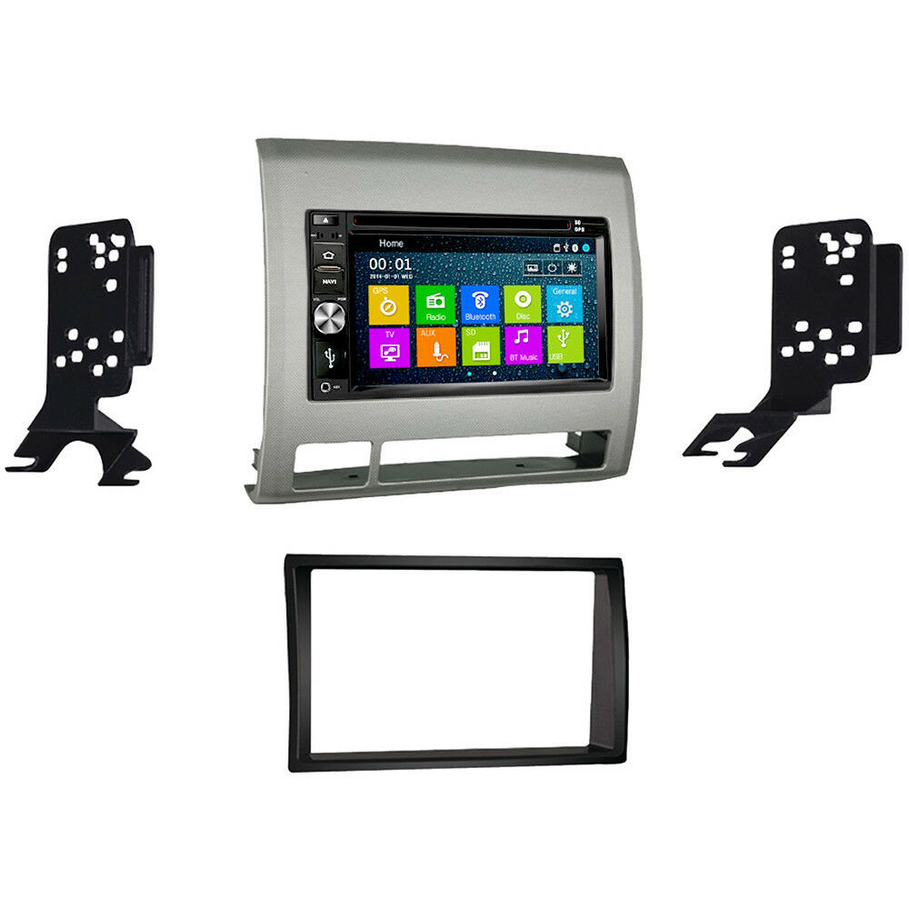 DVD GPS Navigation Multimedia Radio and Dash Kit for Toyota Tacoma 05-11 Silver