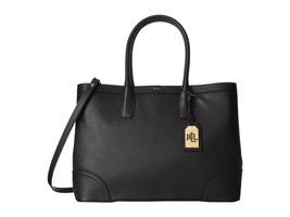 NEW RALPH LAUREN WOMEN'S PEBBLED LEATHER FAIRFIELD TOTE BAG WITH STRAP B... - $5.371,55 MXN