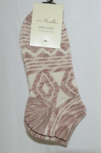 Simply Noelle Ankle Socks Browns Tans  Cream Colors One Size Fits Most