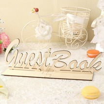 Rustic Wooden Guest Book Wedding Sign Table Wedding Birthday Party DIY D... - $14.21