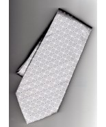 Donald J Trump Signature Collection Silk Gray Geometric Pattern Mens Tie - $22.50