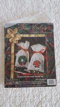 True Colors Christmas Tree & Holly Sachets Ribbon Embroidery Stitchery K... - $6.99