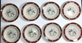 Royal Seasons Snowman Holiday Winter Salad Bread Desert Plates - Set of 8 - $11.87