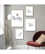 Minimalist Human Body Line Drawing Wall Art Modern Abstract Painting Family - $6.95+