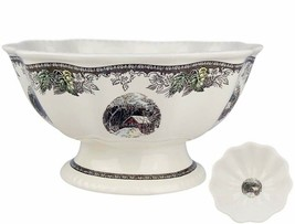 """Johnson Brothers Friendly Village Atlantis footed Bowl 11""""W Scalloped Edge New - $109.90"""