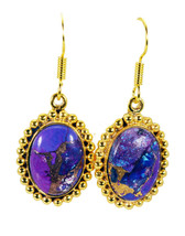 attractive Turquoise Gold Plated Multi Earring genuine jewelry US gift - $14.84