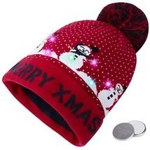 RAISEVERN Unisex Ugly LED Christmas Beanie Hat Novelty Colorful Light-u... - $30.40
